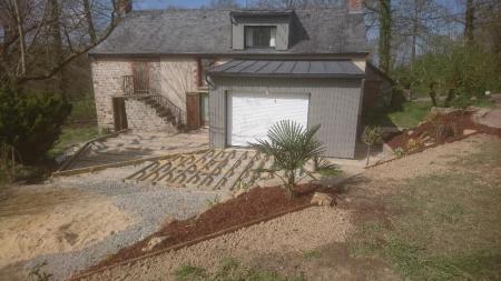 Votre paysagiste basé à proximité de Rennes vous présente la suite de l'aménagement paysager qu'il réalise
