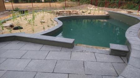 Création d'une piscine naturelles BioNova par votre paysagiste basé à côté de Rennes