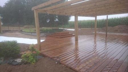 Création d'une piscine naturelle BioNova par votre paysagiste concepteut basé proche de Rennes