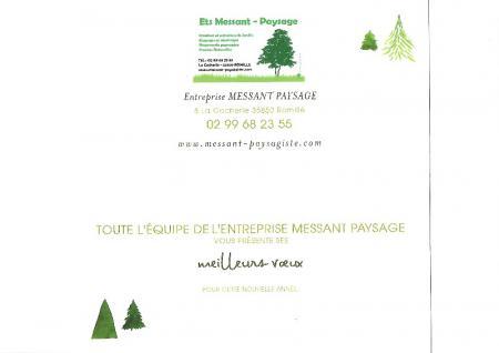 Votre paysagiste basé à côté de Rennes, vous présente ses meilleurs voeux pour cette nouvelle année 2020.