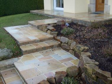 Terrasse en pierre - Romillé