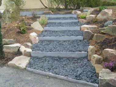 Escalier de jardin - Romillé