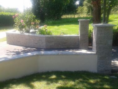 Murets et piliers en pierre - Romillé