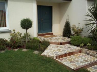 Escalier pierre & bois - Pacé