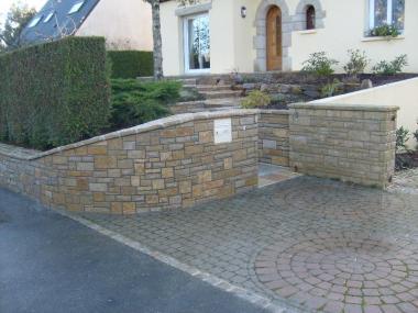 Muret pierre - Romillé