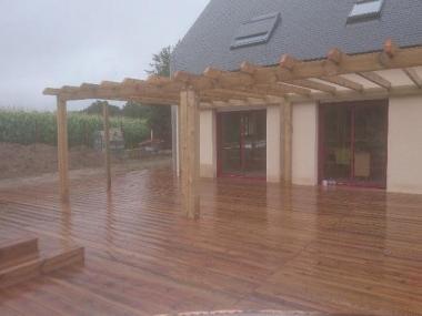 terrasse en bois allaire artisan paysagiste rennes bretagne. Black Bedroom Furniture Sets. Home Design Ideas