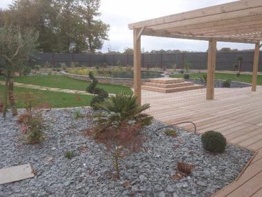 Création d'une piscine naturelle à Allaire