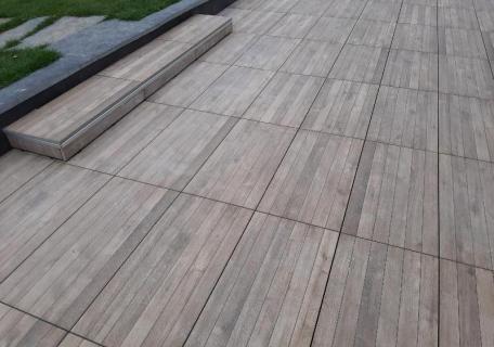 Terrasse dalles sur plots -  Vern sur Seiche