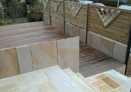 Création terrasse en bois exotique - Melesse