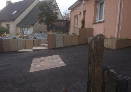 Aménagement en pierre - Rennes
