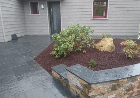 Création terrasse ardoise sciée - Allaire