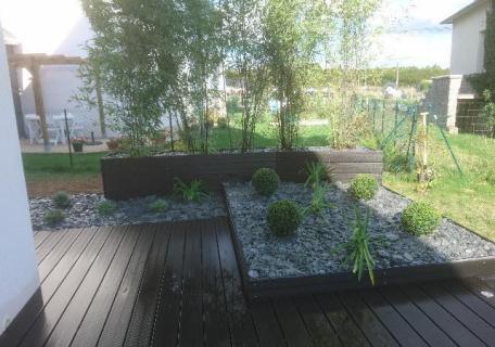 Création jardinières composite Rennes