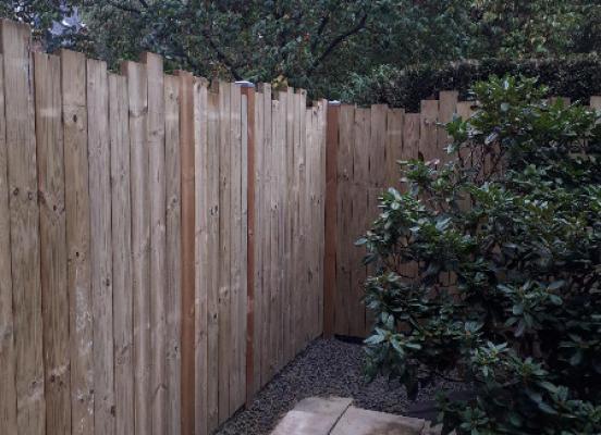 Création d'une clôture en bois - Rennes