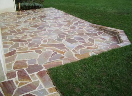 Terrasse en pierre - Pacé