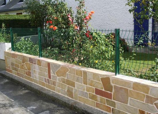 Muret en pierre - Pacé