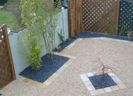 Jardin minéral & bois - Romillé