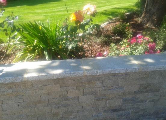 Muret en pierre - Romillé