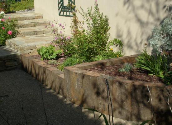 Jardinière en traverses - Montgermont
