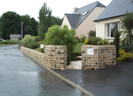 Muret pierre Gneiss -  Pacé