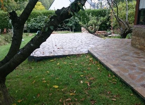 Terrasse pierre naturelle - Melesse