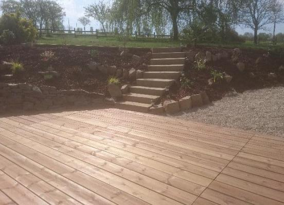 Création escalier-muret en pierre - Rennes