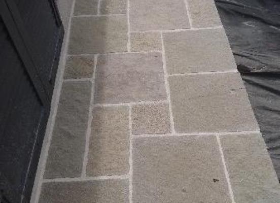 Terrasse en pierre naturelle à Rennes